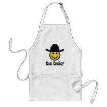 Cowboy Smiley Adult Apron