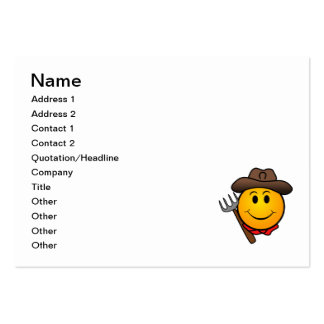 Cowboy smiley large business card