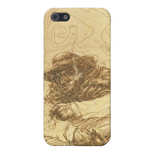 Cowboy Smoke Break iPhone 4 Case