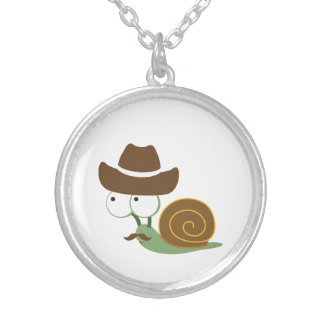 Cowboy Snail Silver Plated Necklace