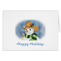 Cowboy Snowman Card