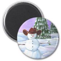Cowboy Snowman Magnet