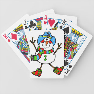 Cowboy Snowman Playing Cards