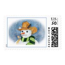 Cowboy Snowman Postage