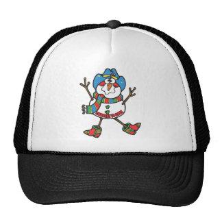 Cowboy Snowman Trucker Hat