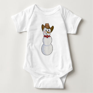Cowboy Snowman with Red Bandana Baby Bodysuit