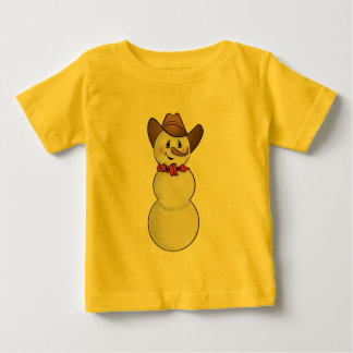 Cowboy Snowman with Red Bandana Baby T-Shirt