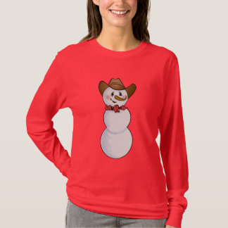 Cowboy Snowman with Red Bandana T-Shirt