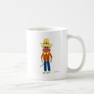 Cowboy Sock Monkey Coffee Mug