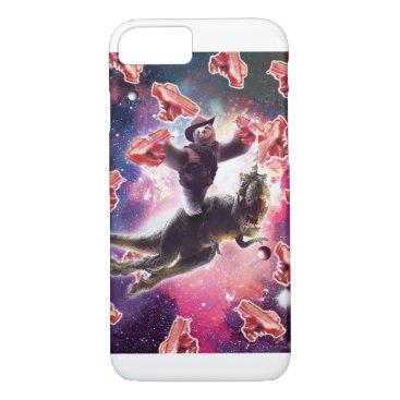 Cowboy Space Sloth On Dinosaur Unicorn - Bacon iPhone 8/7 Case