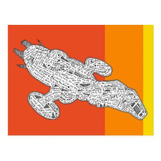 Cowboy Spaceship postcard