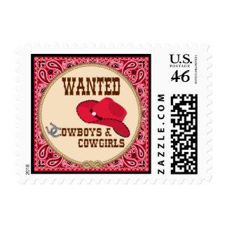 Cowboy - Stamp