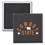 Cowboy State 2 Inch Square Magnet