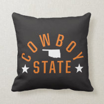 Cowboy State Throw Pillow