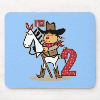Cowboy Stick Horse I'm 2 Mouse Pad