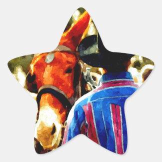 Cowboy Star Sticker