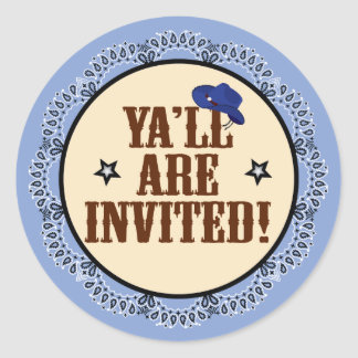 Cowboy Sticker - Ya'll Are Invited
