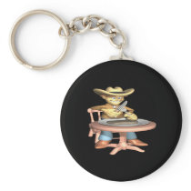 Cowboy Supper Keychain