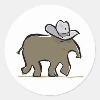 cowboy tapir round stickers