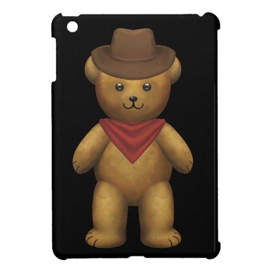 Cowboy Teddy Bear iPad Mini Cover