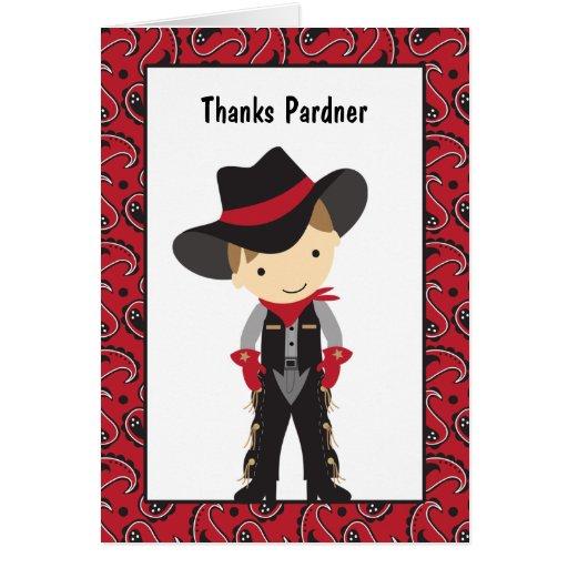 Cowboy Thank You Card Greeting Card