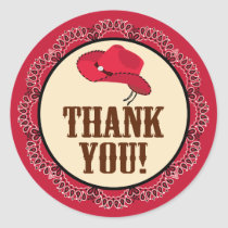 Cowboy Thank You Stickers