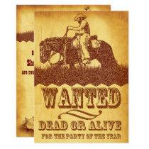 Cowboy Theme Party Invitation