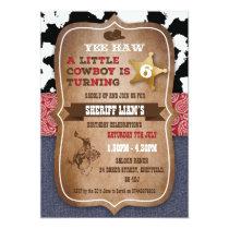 Cowboy themed birthday party invitation
