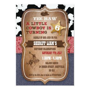cowboy invitations zazzle