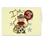 Cowboy Third Birthday T-shirts and Gifts Greeting Card