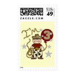 Cowboy Third Birthday T-shirts and Gifts Stamp