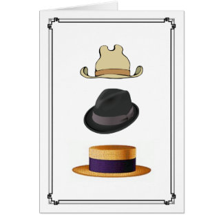 Cowboy Trilby Fedora Boater Mens Hats All Occasion Card