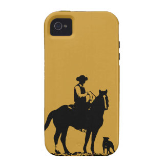 Cowboy Trio iPhone 4 Case - Black and Gold