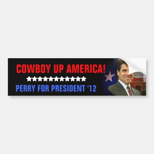 Cowboy Up America Bumper Stickers