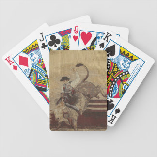 Cowboy Up Bull Rider Game Playing Cards