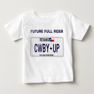 Cowboy Up!  CWBY UP Texas License Plate T Shirts