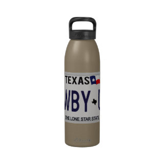 Cowboy Up CWBY UP Texas License Plate Reusable Water Bottles