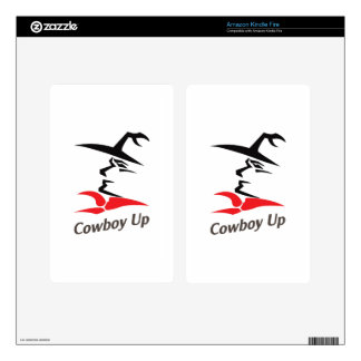COWBOY UP KINDLE FIRE DECAL