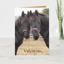 Cowboy  Valentine Holiday Card