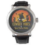 Cowboy Vibes Custom Name Watch
