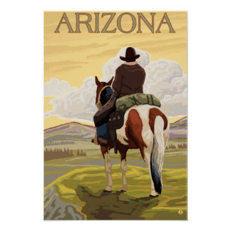 Cowboy (View from Back)Arizona Poster