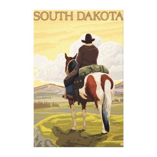 Cowboy (View from Back)South Dakota Canvas Print