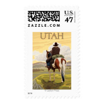 Cowboy (View from Back)Utah Postage