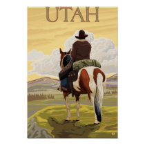 Cowboy (View from Back)Utah Poster
