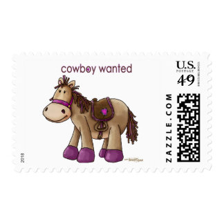 Cowboy Wanted Stamp