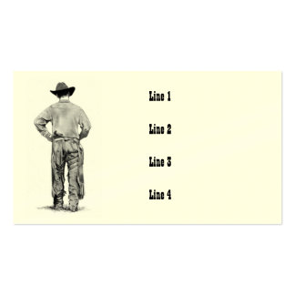 COWBOY WEARING CHAPS, ART BUSINESS CARDS