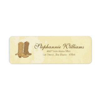 Cowboy Wedding Return Address Label
