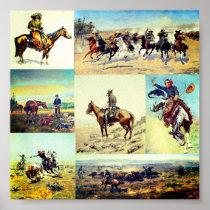 Cowboy Western Art Poster
