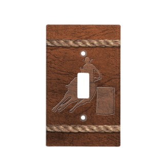 Cowboy / Western - Barrel Racer, Leather & Rope Light Switch Cover