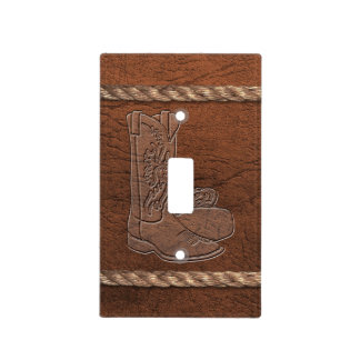 Cowboy / Western - Boots, Leather & Rope Light Switch Cover